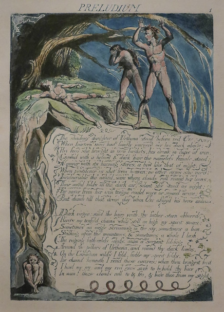 Plate 3, 'Preludium, The Shadowy Daughter...', William Blake
