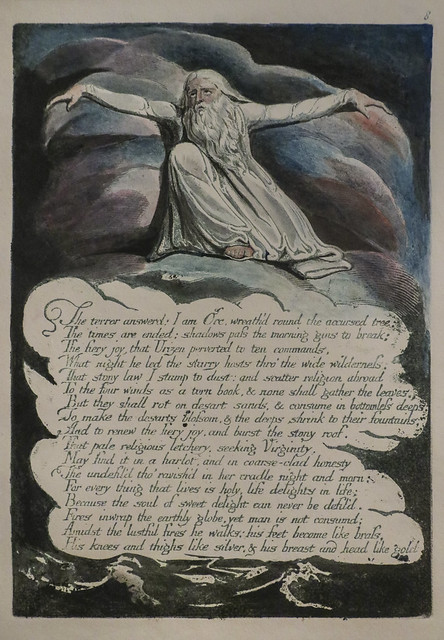 Plate 10, 'The Terror Answered...', William Blake