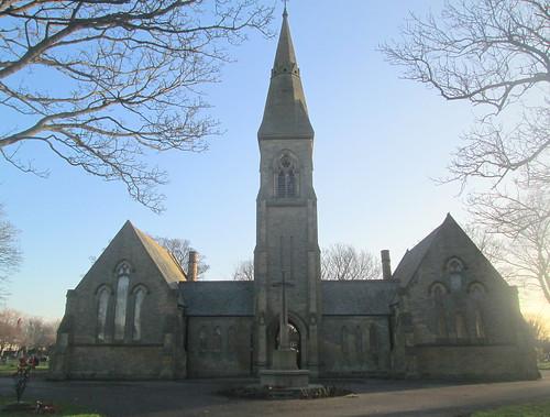 Cemetery Chapel and a War Memorial, Hebburn Cemetery
