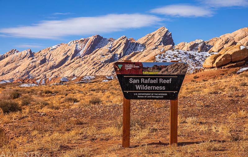 San Rafael Reef Wilderness Sign