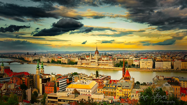 View to Pest From Buda, Budapest, Hungary