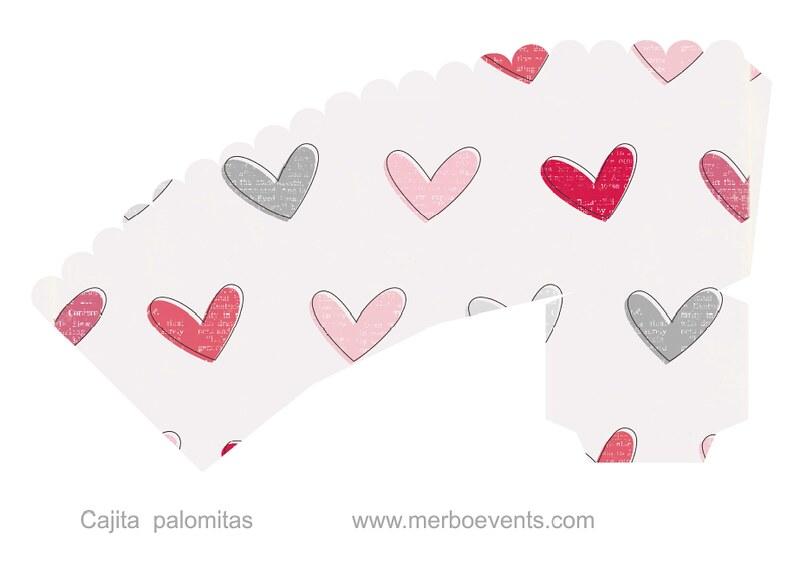 Cajitas palomitas Kit imprimible Love Merbo Events