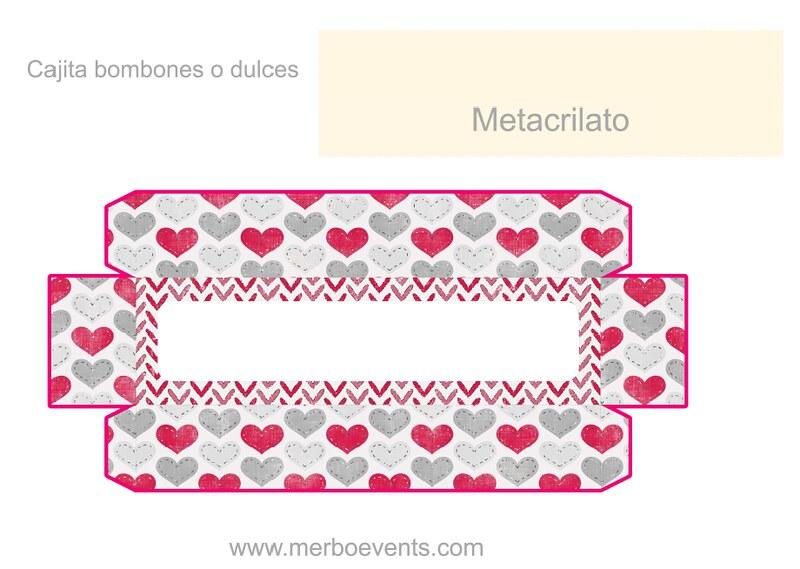 Cajitas bombones Kit imprimible Love Merbo Events