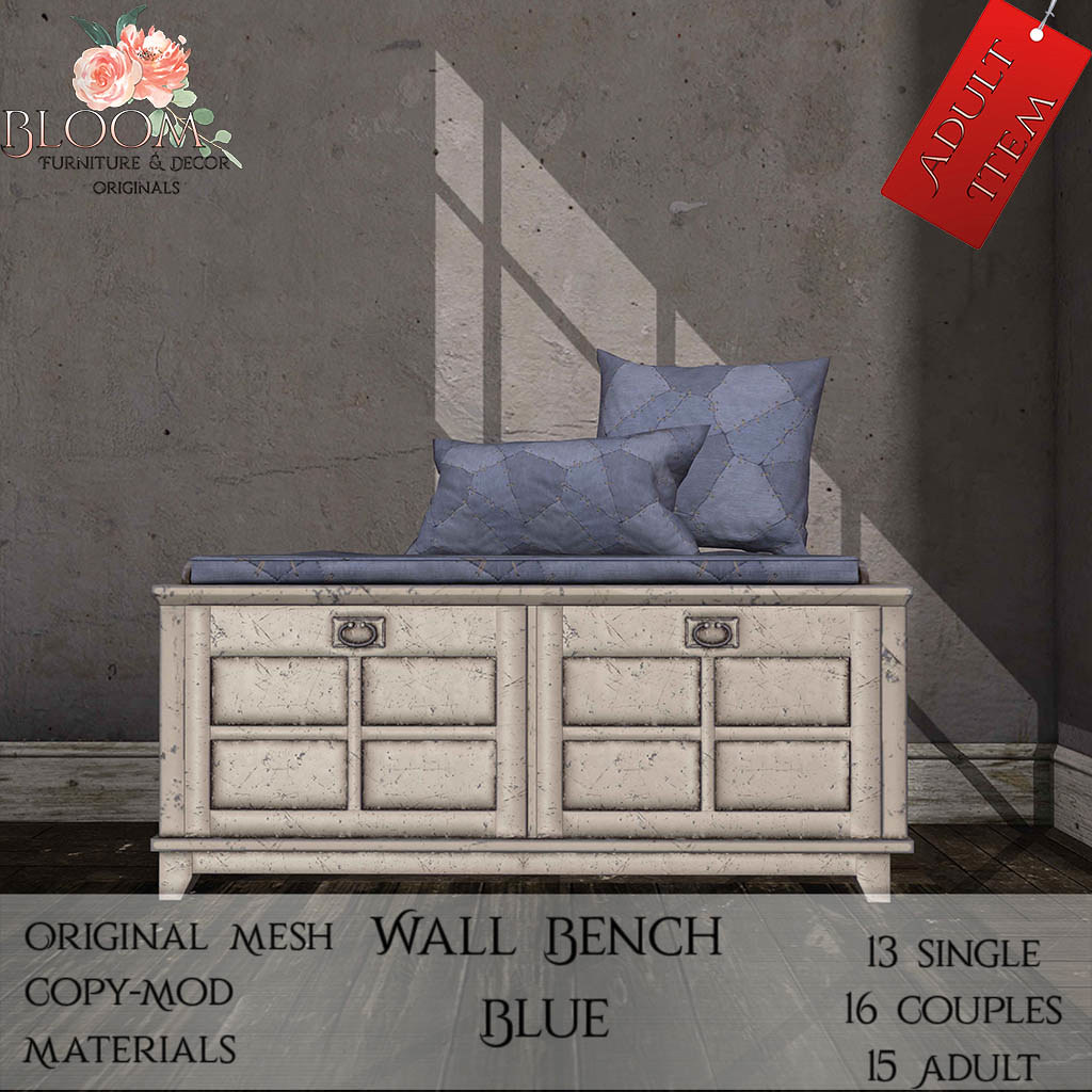 Bloom! – Wall bench Blue (A)AD