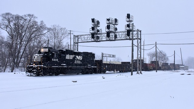 Hot train, cold weather