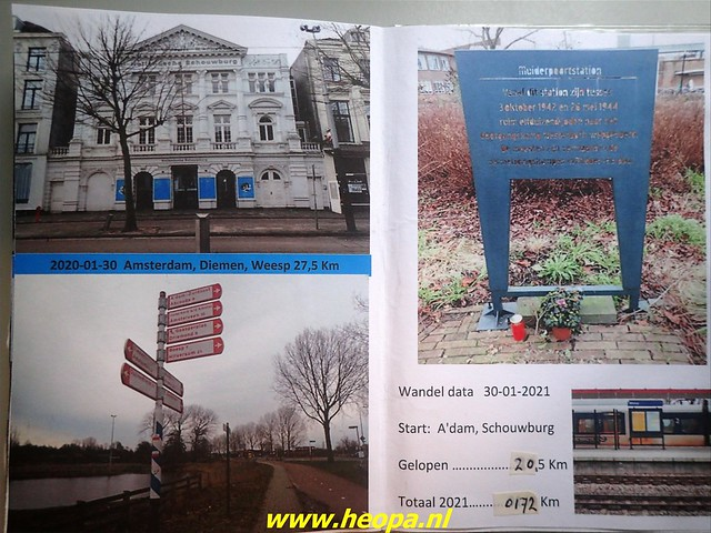 2021-01-30  Hollandsche Schouwburg via station Muiderpoort, Diemen, Station Weesp 85