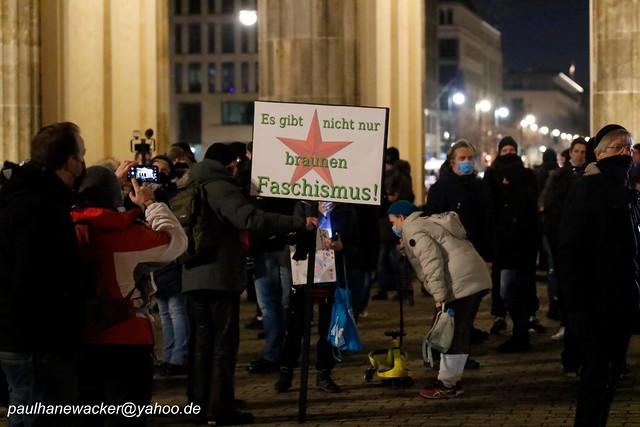31.01.2021 Berlin, rechte Demo 0003 In Solidarität zu Österreich