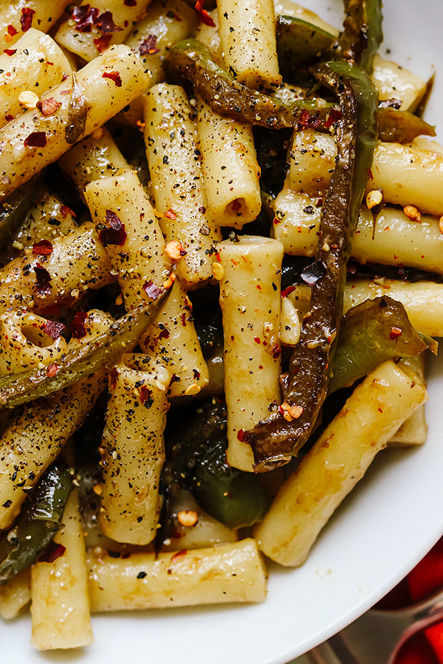 Pasta with Blistered Green Peppers