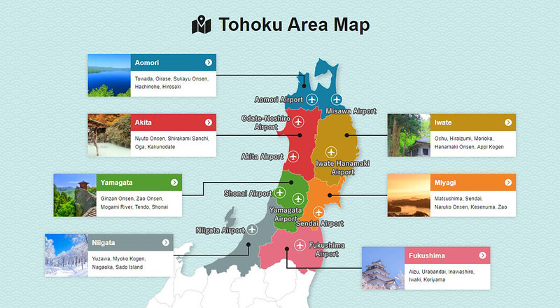 tohoku area map