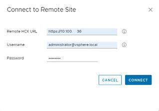 OCVS - HCX Site Pairing