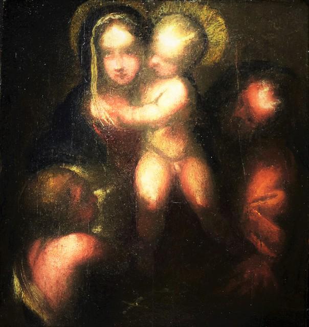 Antonio Allegri il Correggio (Correggio 1489 – 1532) - Sacra Famiglia con San Giovannino che porge il Sudario