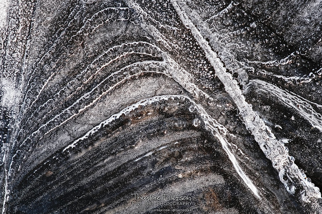 River Ice Bubble Patterns