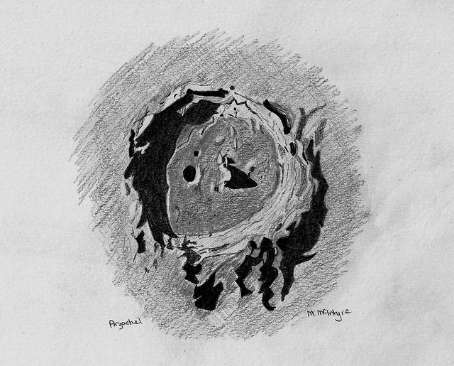 Crater Arzachel Pencil Sketch