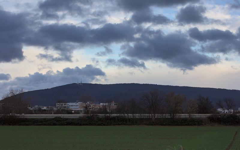 The Königsstuhl seen from Wieblingen's fields