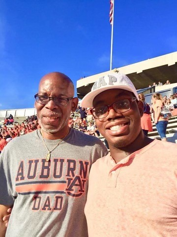 Roy and Royce Williams at an Auburn football game