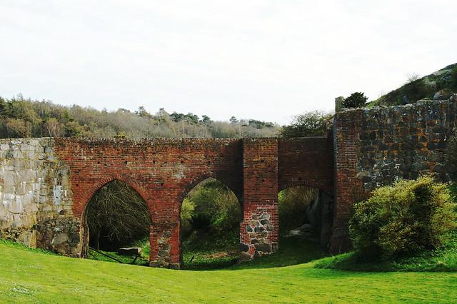 The bridge to Hammershus (15th century)