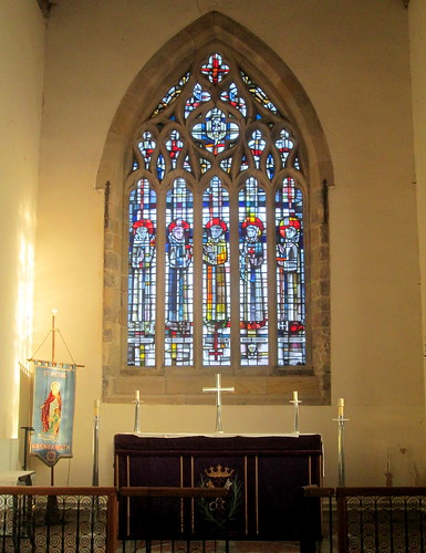 Stained Glass Window, Altar, St Peter's Church, Monkwearmouth