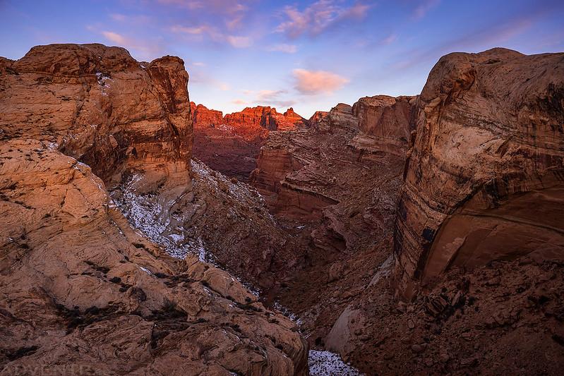 First Light over Black Dragon Canyon