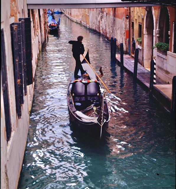 Venice,Gondola, going away
