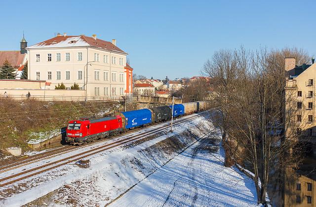 Nákladeček Pn 58180 společnosti DB Cargo Czechia s.r.o. v Litoměřicích