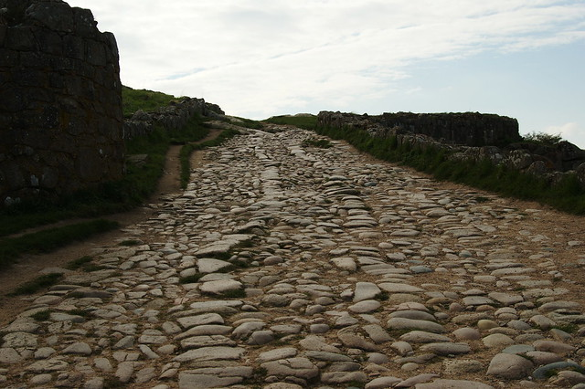 Paved medieval road inside Hammerhus castle (from the early 1200s+)