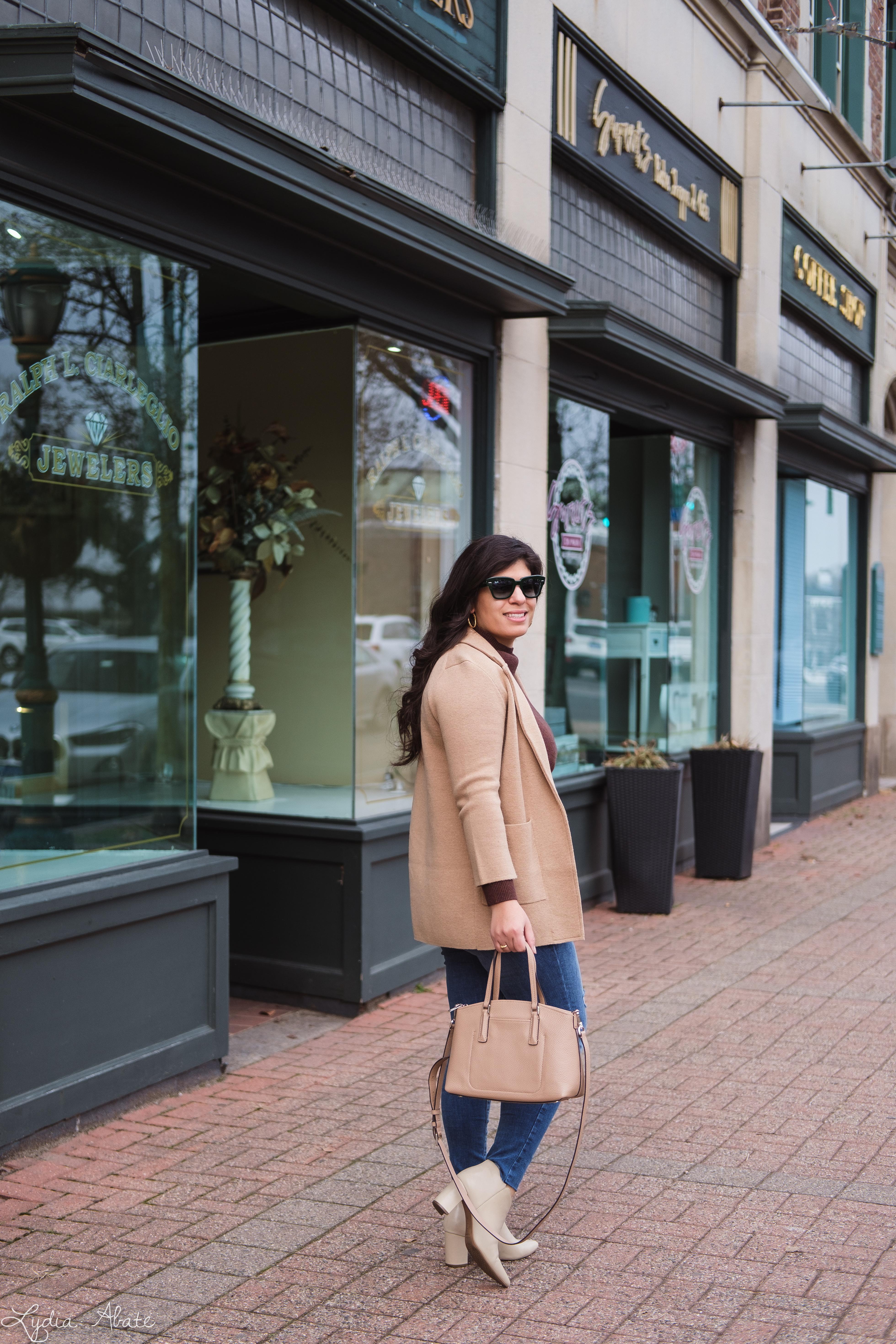camel sweater blazer, brown turtleneck, jeans, booties-7.jpg