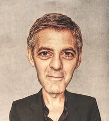 Caricatura di George Clooney
