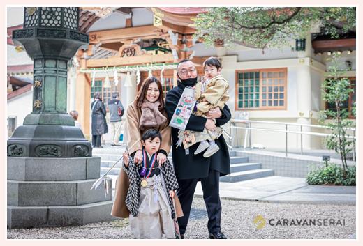 冬の七五三 針名神社へお参り 名古屋市天白区