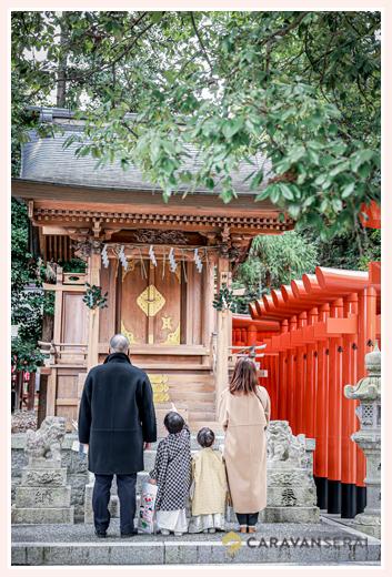 針名神社で七五三 名古屋市天白区 冬(1月)の七五三