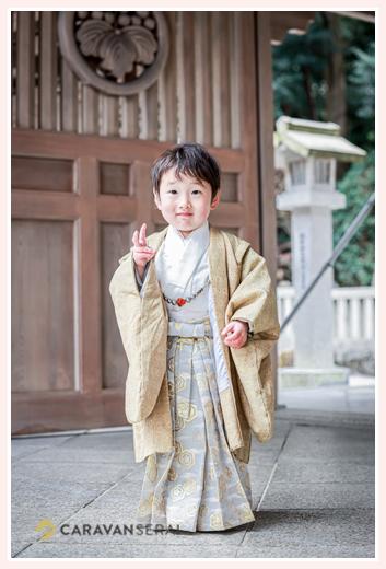 七五三 数えで3歳の男の子 針名神社(名古屋市天白区)
