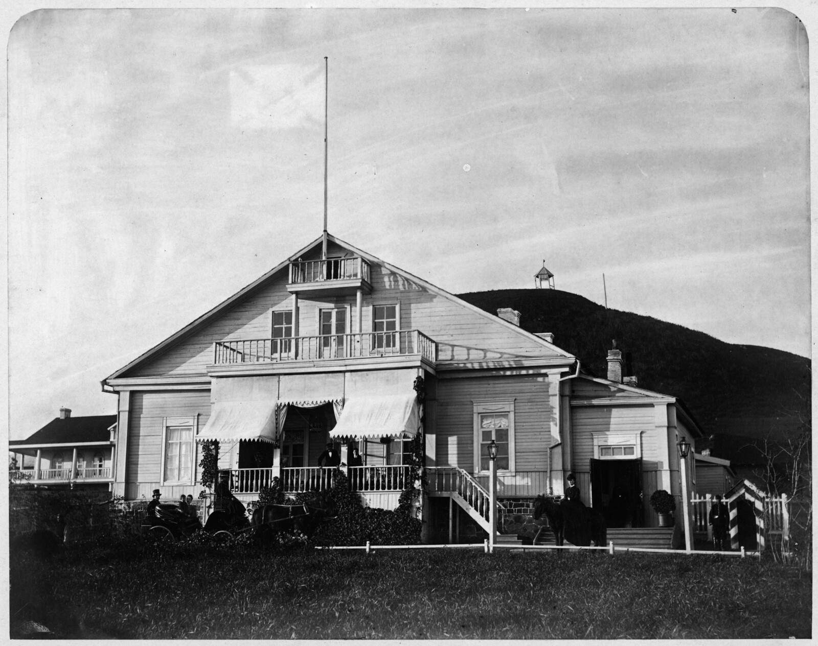 Дом Главного Командира портов Восточного Океана, Губернатора и Командующего войсками Приморской области. 17 Сентября 1876.