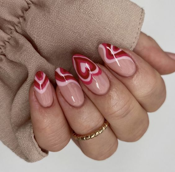 The Best Valentine's Day Nails on Pinterest | Pink Nails | Valentine Nails | Heart Nails | Valentines Day Nails | February Nails