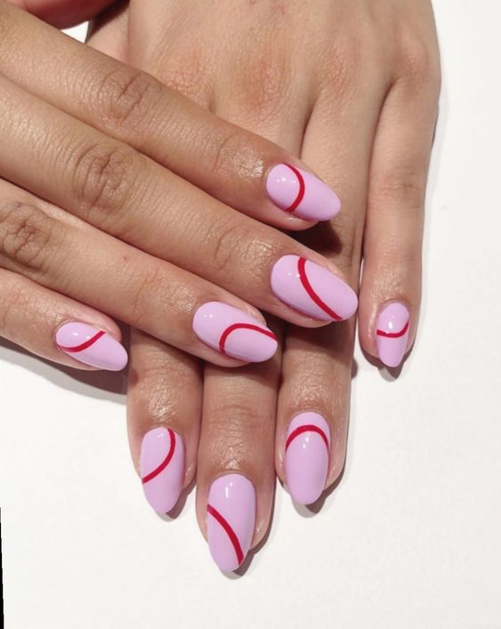 The Best Valentine's Day Nails on Pinterest | Pink Nails | Valentine Nails | Valentines Day Nails | February Nails