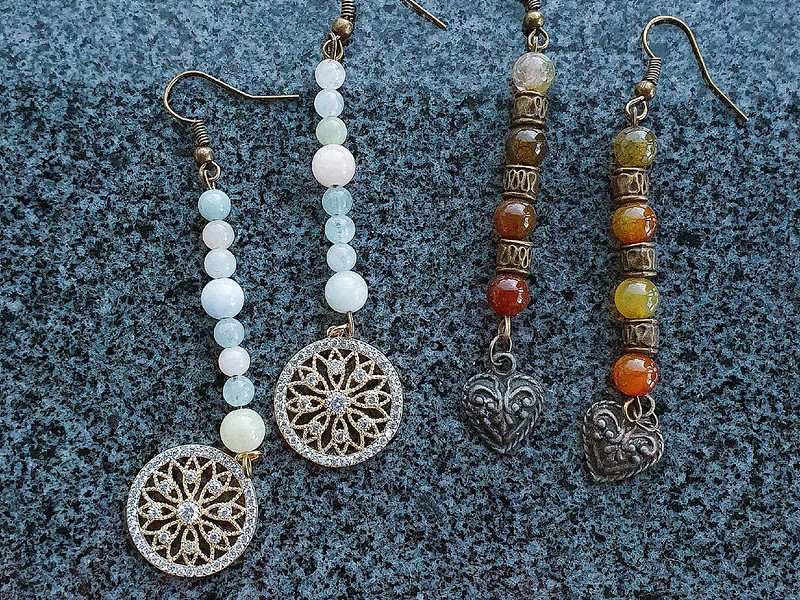 Crystals Earrings (rect)