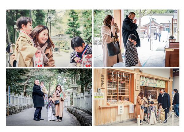 冬の七五三 針名神社へご参拝 愛知県名古屋市