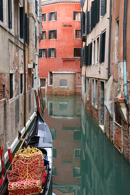 A quiet canal in Venice, Italy