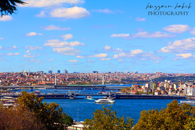 Istanbul city view from Topkapi Palace