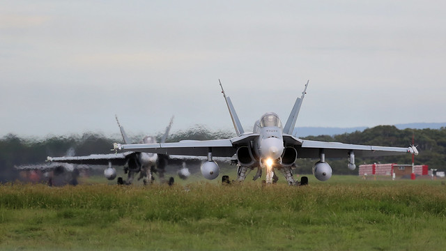 F/A-18Bs ~ Williamtown (1 of 2)