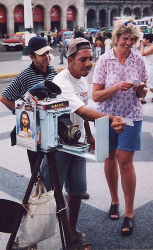 A home-made camera in Havana, Cuba