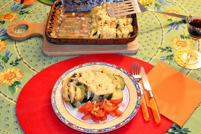 Februar 2021 ... Kartoffel-Zucchini-Gratin ... Brigitte Stolle