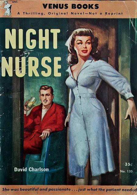 Night Nurse - Venus Books - No 135 - David Charlson - 1951