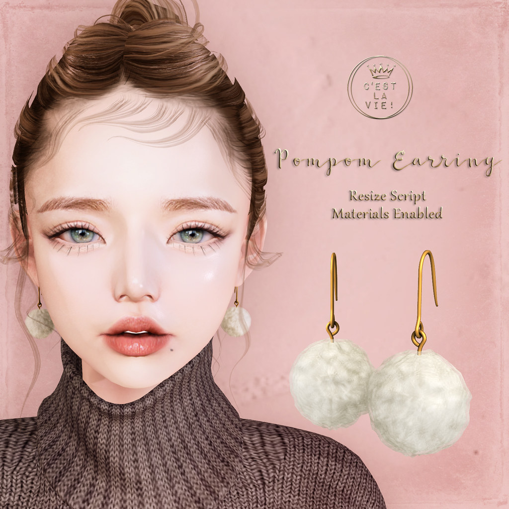 ::C'est la vie !:: Pompom Earring at MarketPlace GIFT