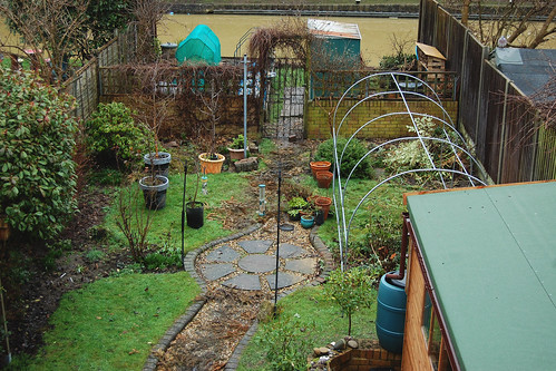 Looking Down on the Back Garden - Febriary 2021