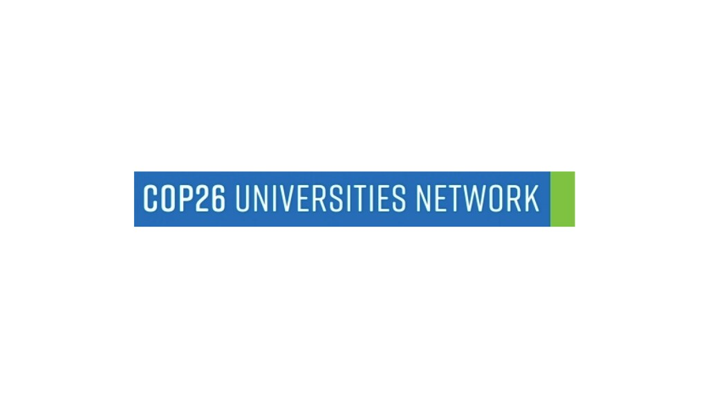 The COP26 Universities Network logo on a white background
