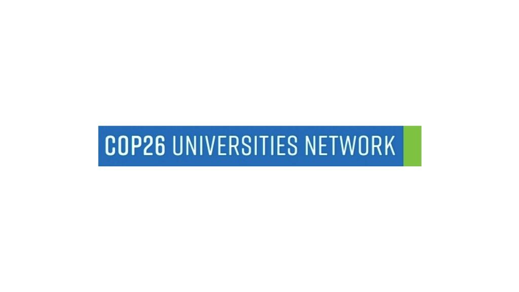 COP26大学网络的标志在白色背景上