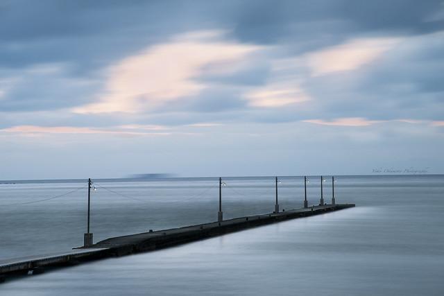 夕方の桟橋 Pier in the evening