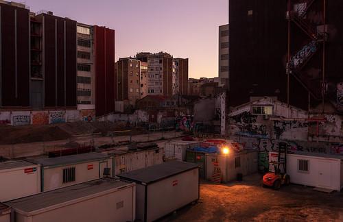 S´amaga el sol a Poblenou