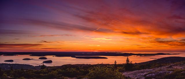 Cadillac Mountain Sunrise Panorama (Explored)
