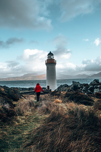 Eilean Sionnach Lighthouse. From The Complete Guide to Vanlife Scotland: Costs, Routes, & Everything Else You Need to Know!