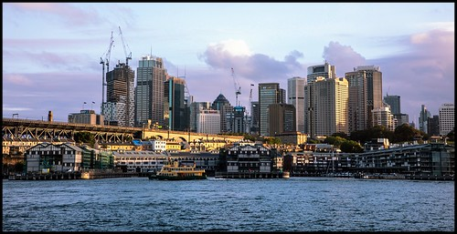 millerspoint dawespoint hicksonroad wharf wharves sydney skyline sydneyskyline ferry sydneyferry sunset water harbour bay walshbay buildings city citybuildings